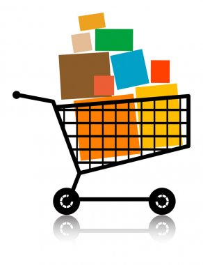 Shopping cart illustration stock vector