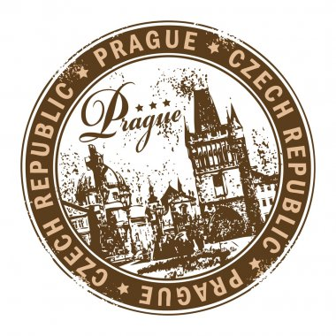 Stamp Prague, Czech Republic