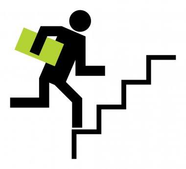 Running upstairs shopping clip art vector