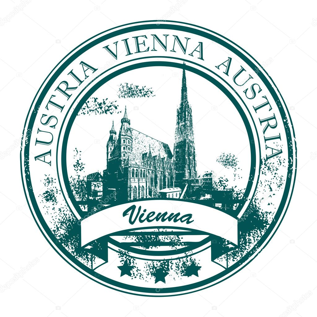 Grunge Rubber Stamp With St Stephens Cathedral And The Word Vienna Austria Inside Vector By