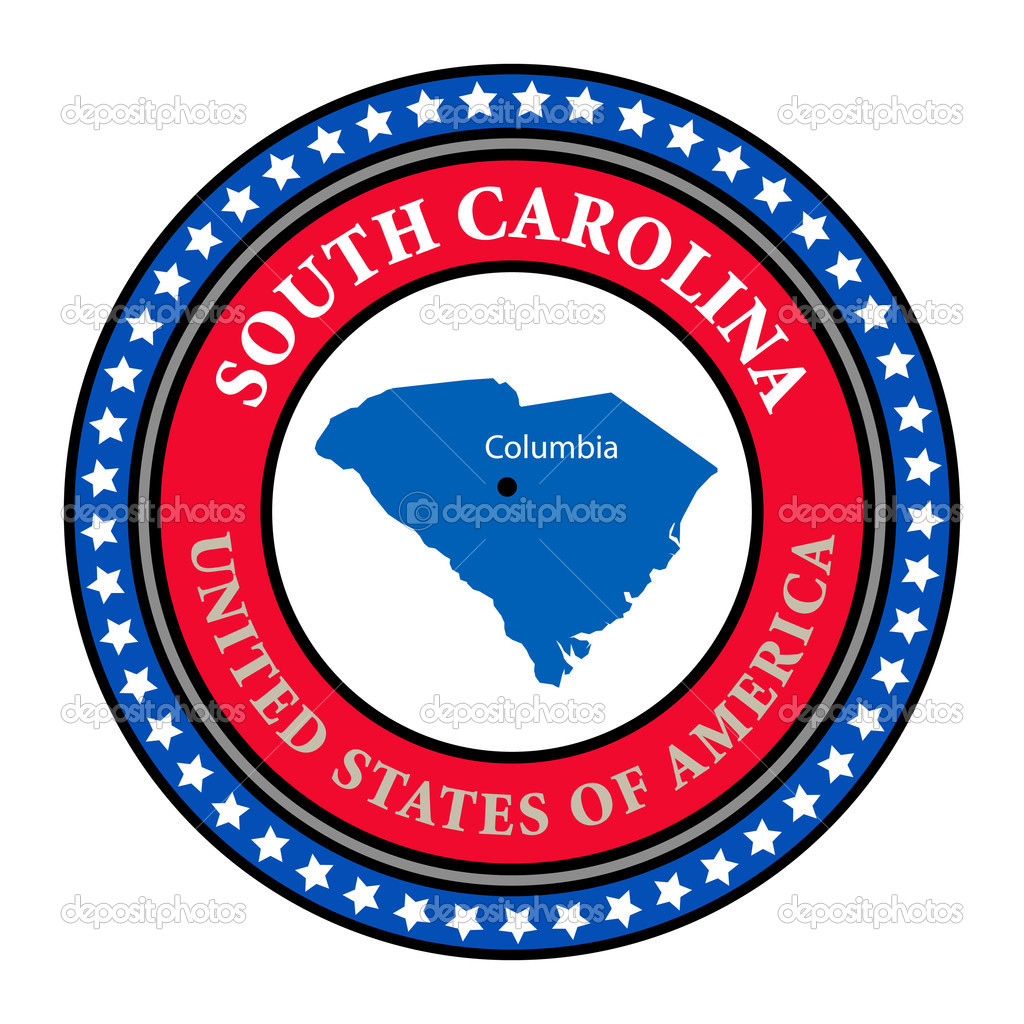 label south carolina stock vector