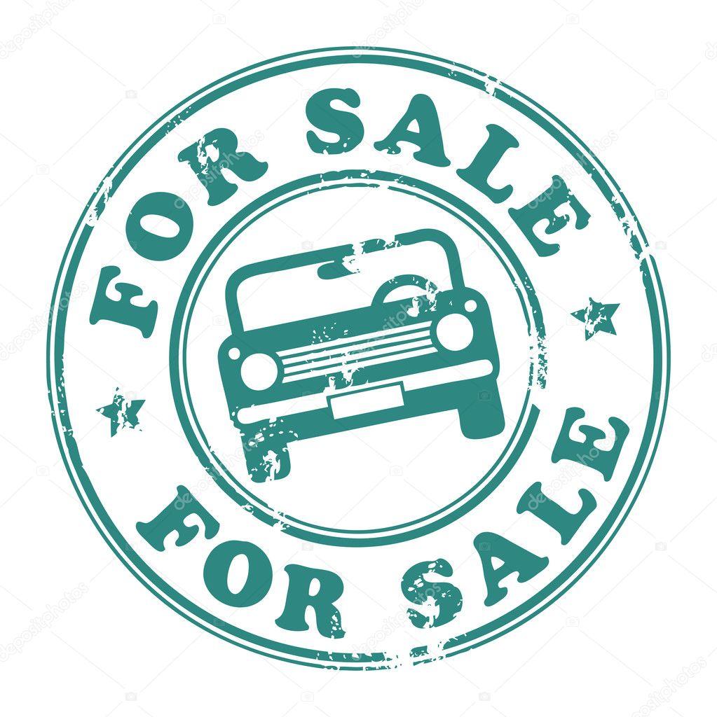 coche para sello de venta — Vector de stock © _fla #11637934