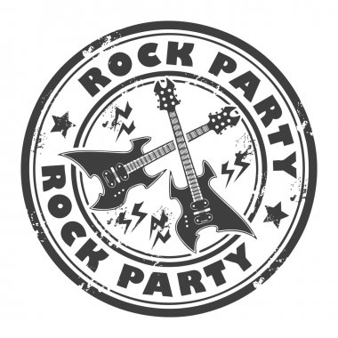 Rock Party stamp