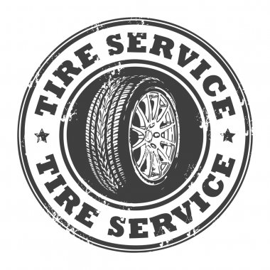 Tire service stamp
