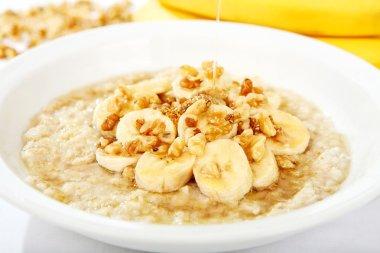 Banana Nut Oatmeal with Honey