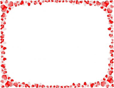 Red and White Heart Border