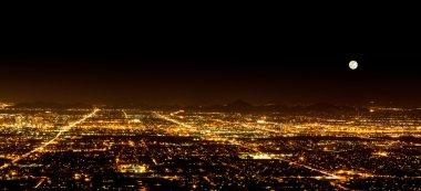 Super Moon over Phoenix Arizona
