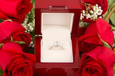 Engagement Ring With Roses