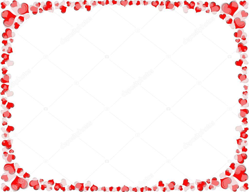 borde del corazón rojo y blanco — Foto de stock © adogslifephoto ...