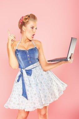Blonde laptop