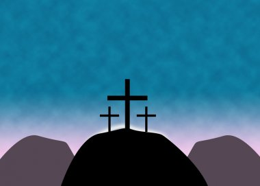 Christian Easter Cross Background
