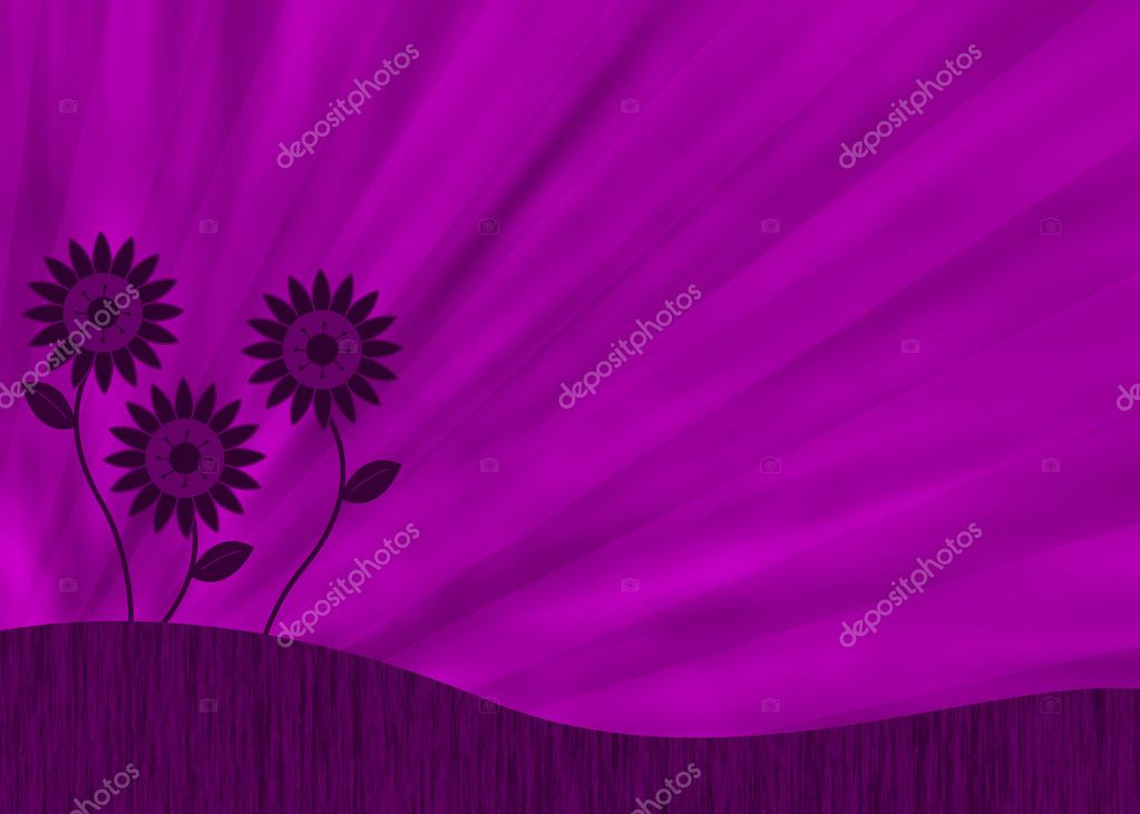 Purple retro flower background