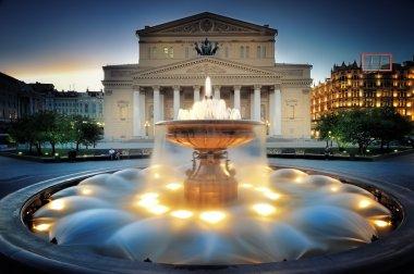 Moscow, Fountain near the Bolshoi theater.