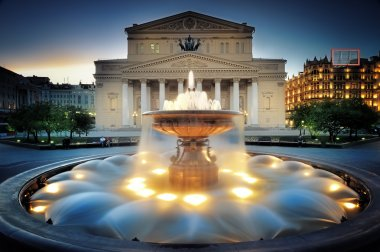 Moscow, Fountain near the Bolshoi theater.