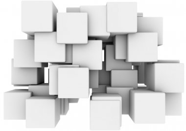 Render of a group of cubes stock vector