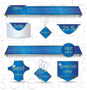 Blue web design banner sale for website