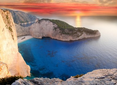 Navagio beach with shipwreck in Zakynthos Island