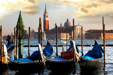 Gondolas in the evening,