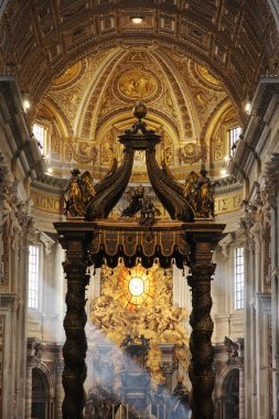 St. Peters Basilica, St. Peters Square, Vatican City. Indoor interior