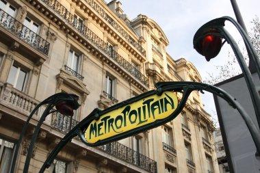 Paris Metro subway sign