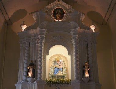 Sculpture of Madonna in Church of St. Dominic (Domingos). Macau.