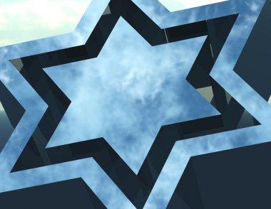 Star of david. stock vector