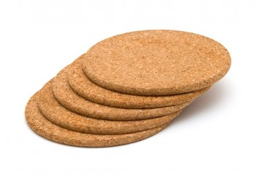 Cork table coasters
