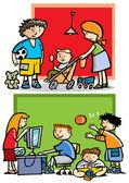 Kinder, die spielen