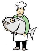 Fényképek Chef-val nagy hal