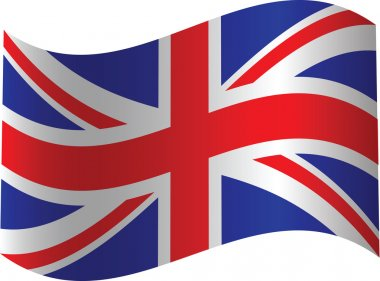 UK waved flag