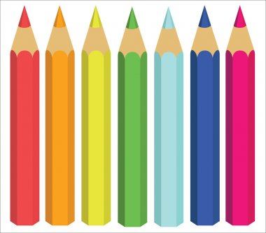 Colored Crayons, vector illustration