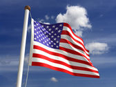 Photo USA flag (with clipping path)