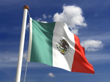 Mexico flag (with clipping path)