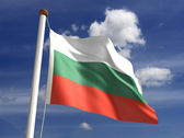 Bulgaria flag (with clipping path)