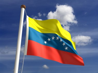 Venezuela flag (with clipping path)