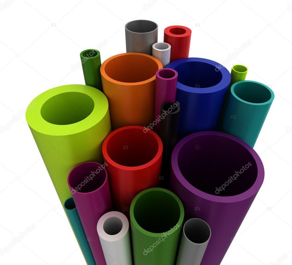 Tubi di plastica colorati foto stock selensergen 12126987 for Tipi di tubi idraulici in plastica