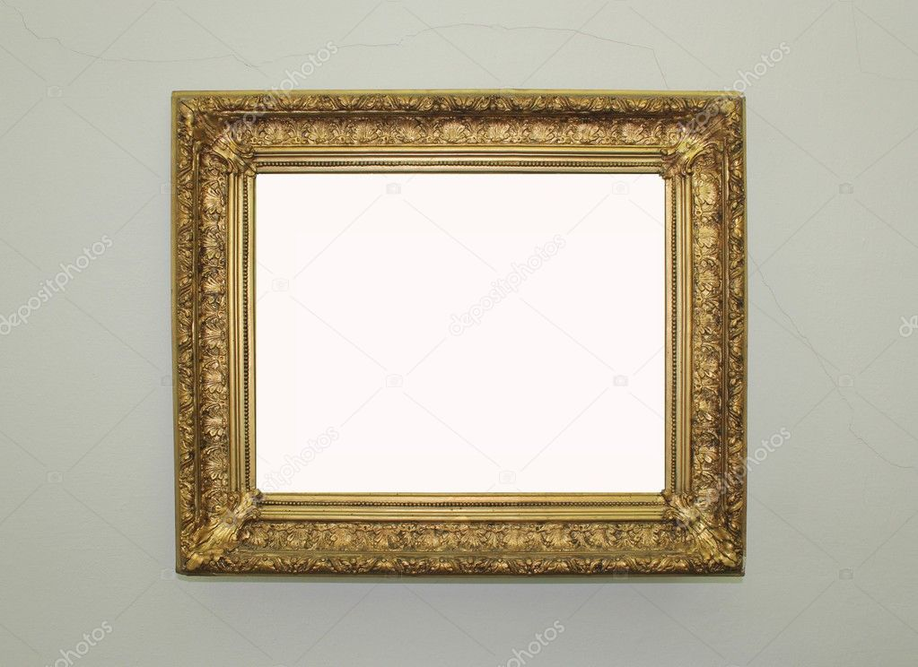 Golden gerahmte Spiegel — Stockfoto © blash #11377057