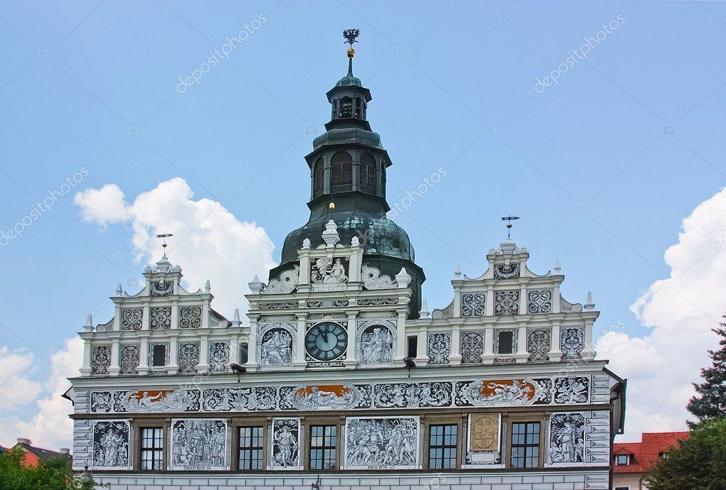 Stribro Tschechien stribro rathaus tschechische republik stockfoto borisb17
