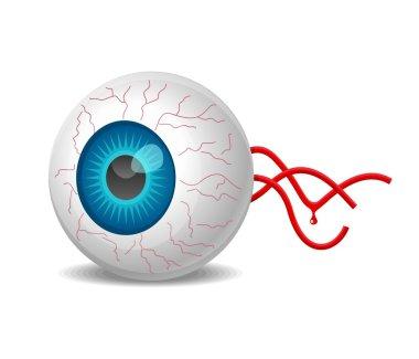 Detached eyeball vector