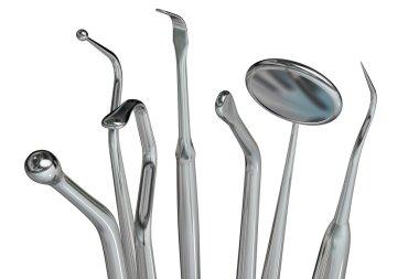 Isolated dentist tools 6