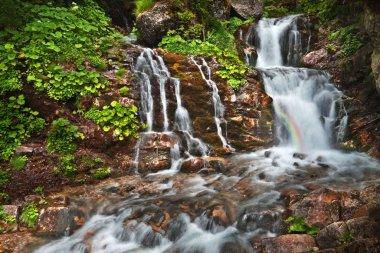Hidden place at the Screaming Waterfall at Caraiman (Bucegi moun