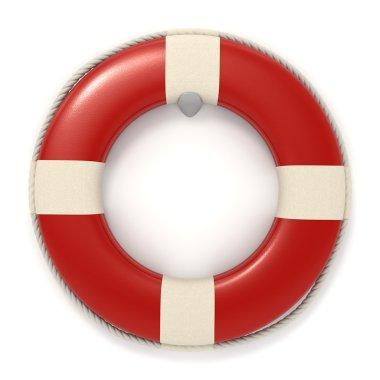 Red lifebuoy icon - Isolated