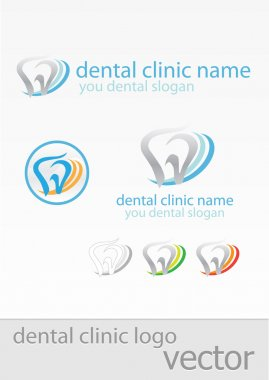 Templates of logos for dental clinic