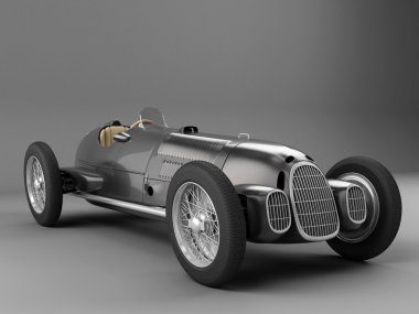 Antique Black racing car