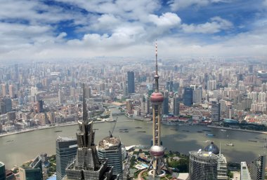Aerial view of modern metropolis