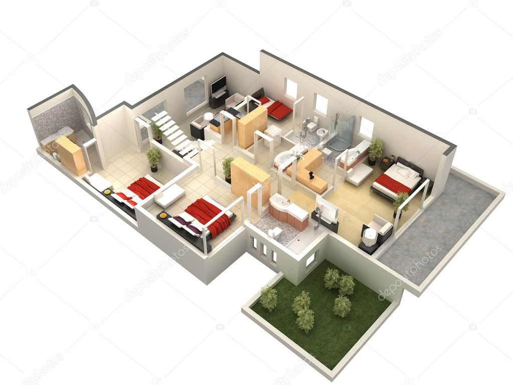 3d Floor Plan Stock Photo Allensima 10952413