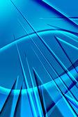 Fotografie abstrakte blaue Stacheln