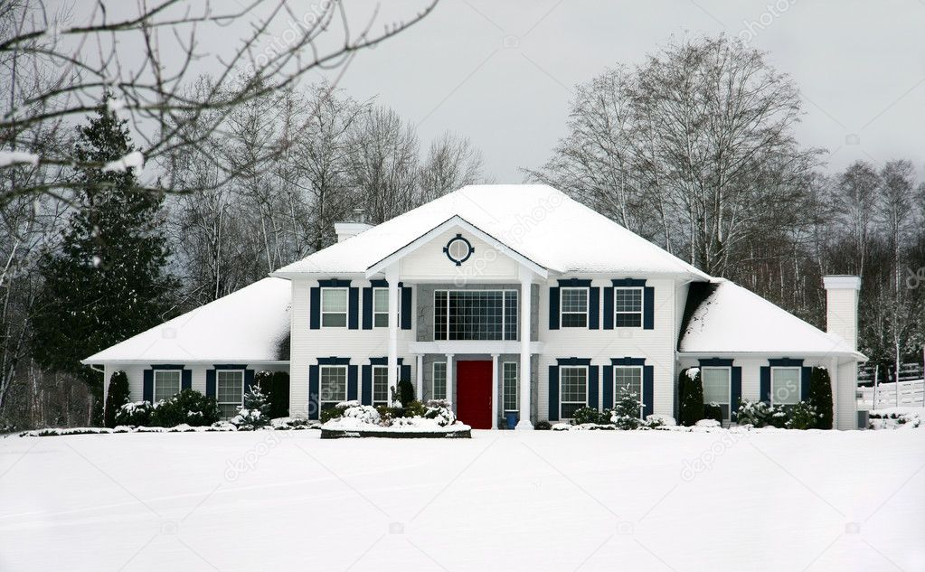 Beautiful house in winter