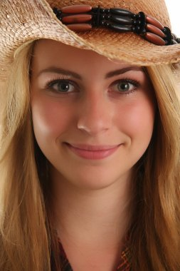 Blond cow girl