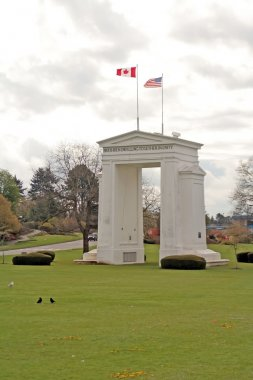 Peace arch monument on the border between Washington and British Columbia